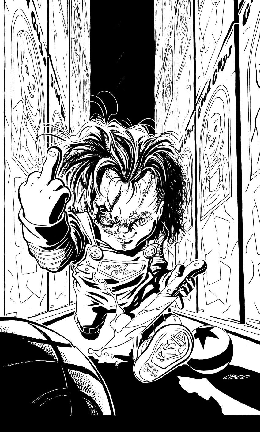 Chucky Childs Play Badass Drawings Horror Artwork Horror Movie Art