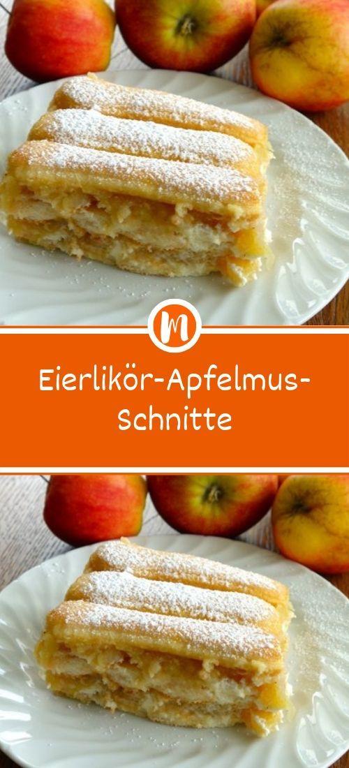 Eierlikör-Apfelmus-Schnitte  #leckerekuchen