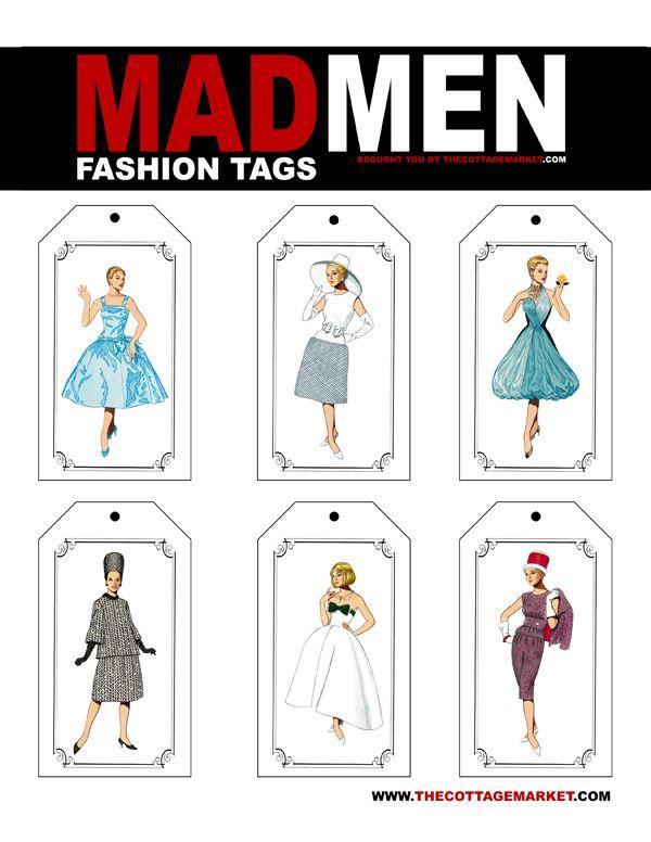 Valentine's Day Madmen Style Free Fashion Printable Tags #fashiontag