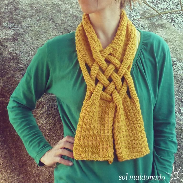 Weave Scarf Unisex Knit Neckwarmer Pattern -- If only I could knit ...