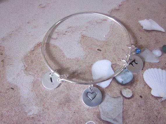 adjustable bangle I love Pi bracelet by Allthatshimmersjwlry