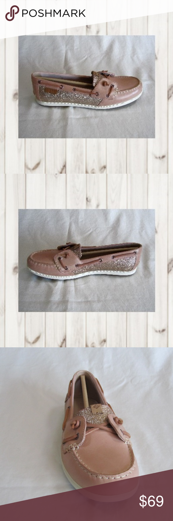 Sperry Top Sider, Coil Ivy, Rose Sparkle Sperry Top Sider, Coil Ivy, Sparkle, Women's Size 9M, Rose, Boat Shoe. Leather lace - padded insole. NWB.  (CL-PM,EB) Sperry Shoes Flats & Loafers