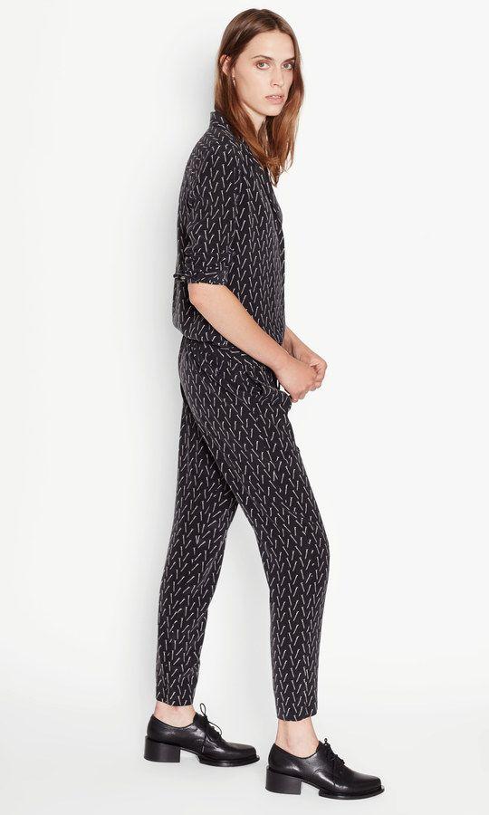 Hadley Track Silk Pant