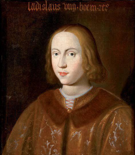 Portrait von König Ladislaus  Posthumus (1440–1457), um 1650.  nach dem Portrait in den kaiserlichen  Sammlungen, 1457. Burg Forchtenstein, Esterházy Privatstiftung