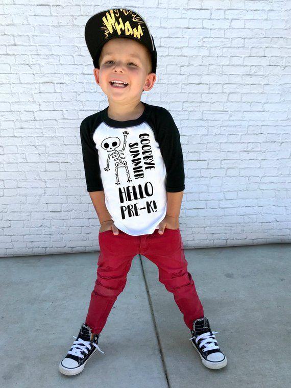 boys preschool shirt first