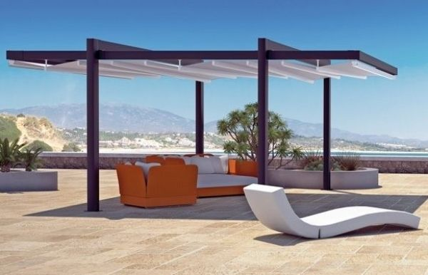 PVC Alu Überdachung-Sonnenliege Design Terrassen Ideen - 28 ideen fur terrassengestaltung dach