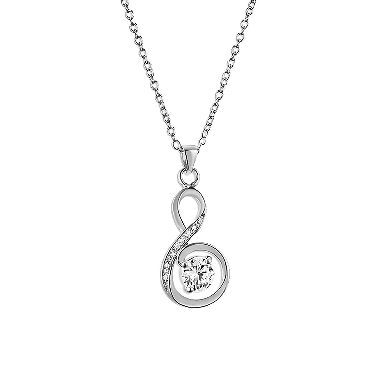 FASHIONVICTIME Pendant For Women By Silver Plated Jewel- Crystals From Swarovski YlVIxq