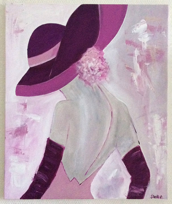 Tableau femme romantique tableau contemporain peinture for Tableau peinture contemporain