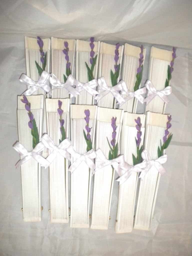 detalles de boda originales abanicos para bodas con motivos florales ...