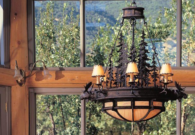 Rustic Chandelier Perfect For A Mountain Home Hammerton Lodge