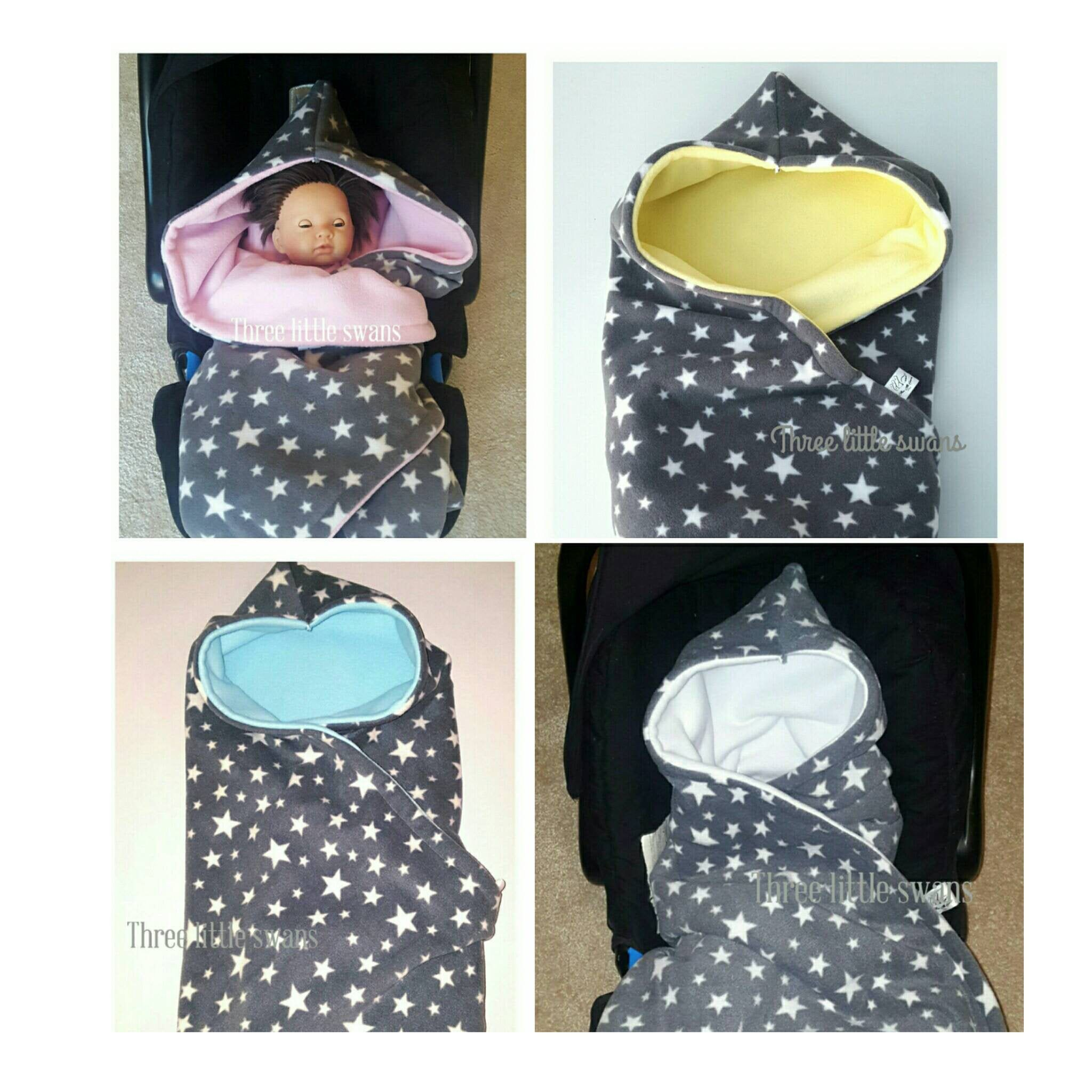 Hooded car seat blanket, different colour options, car