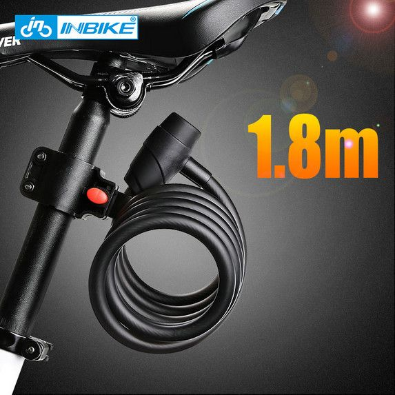 Inbike Sepeda Kunci 1 8 M Sepeda Kabel Kunci Anti Pencurian Kunci