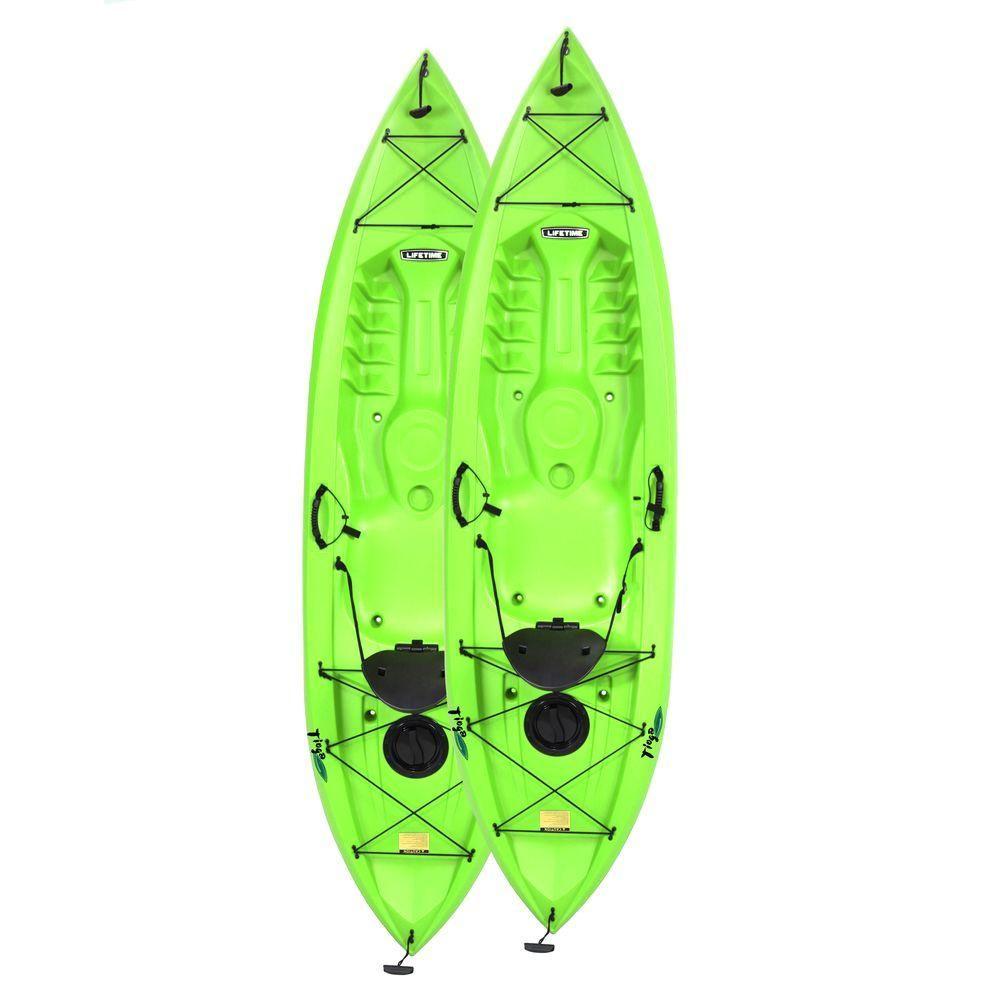 Photo of Lifetime Tamarack Tioga 10 ft. Lime Green Kayak (2-Pack)-90643 – The Home Depot
