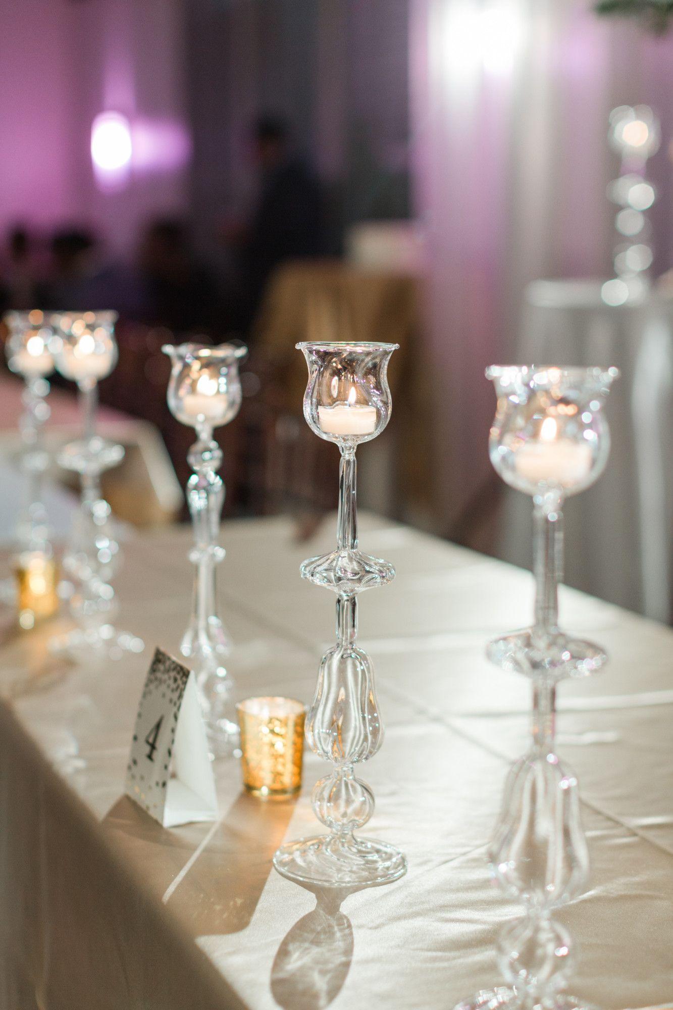 hand blown stemware candle votives