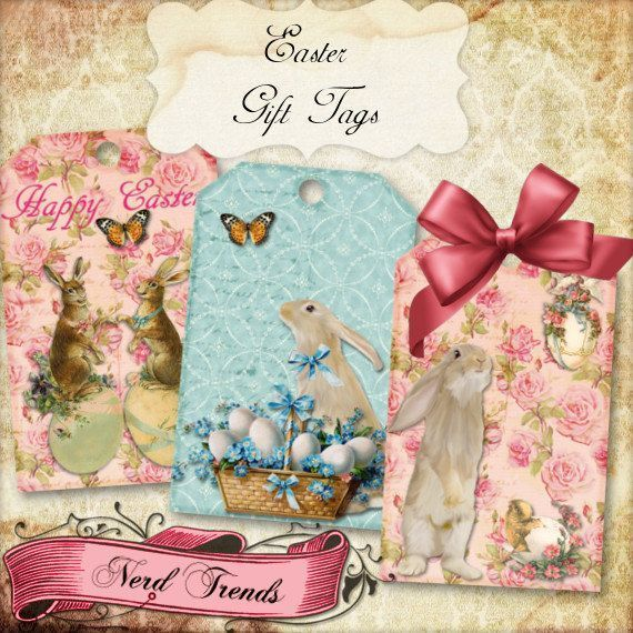 Vintage easter gift tags digital collage sheet spring tags vintage easter gift tags digital collage sheet spring tags sweet easter cards negle Images