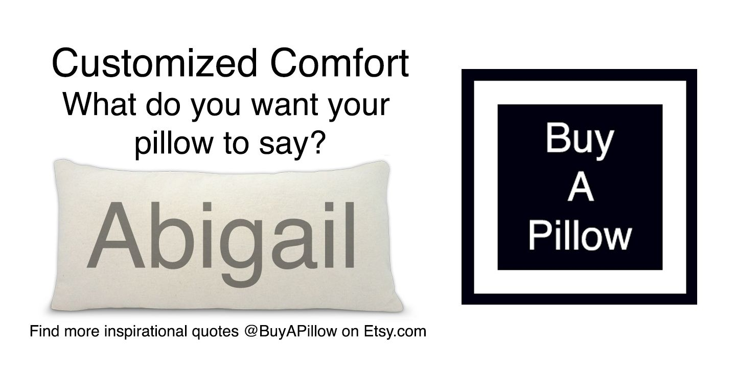 Abigail name pillow @BuyAPillow on Etsy.com. $39