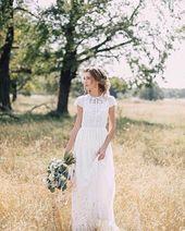 Dress D0035  boho wedding dress boho dress beach wedding dress romantic wedding dress bridal dress bohemian dress tulle dress