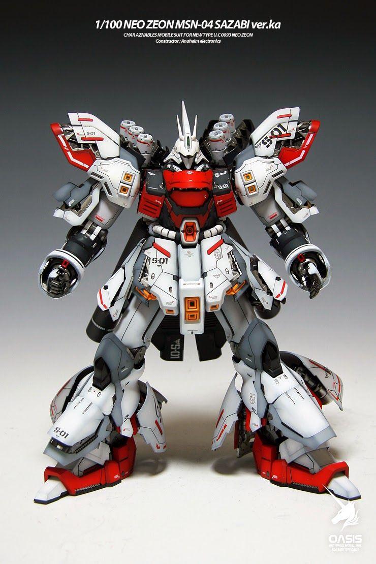 MG 1/100 Sazabi Ver. Ka Red and White Painted Build