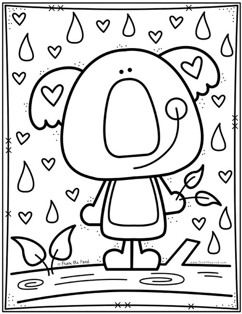 Koala Coloring Page Free Coloring Club From The Pond Color Club Valentine Coloring Pages Coloring Pages