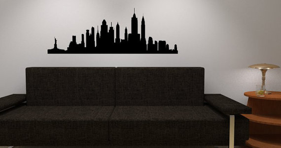 Elegant New York Skyline Wall Decal   Vinyl Wall Sticker Decal   NY City Wall Vinyl Part 12