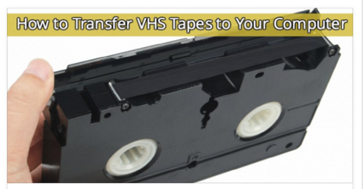 Have You Ever Wanted To Transfer Those Old Vhs Tapes To Your Computer This Is How You Do It Computer Diy Vhs Tapes Tapes