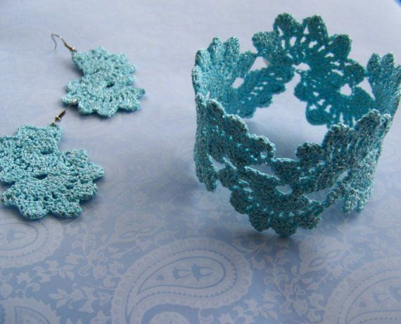 Crochet lace bracelet