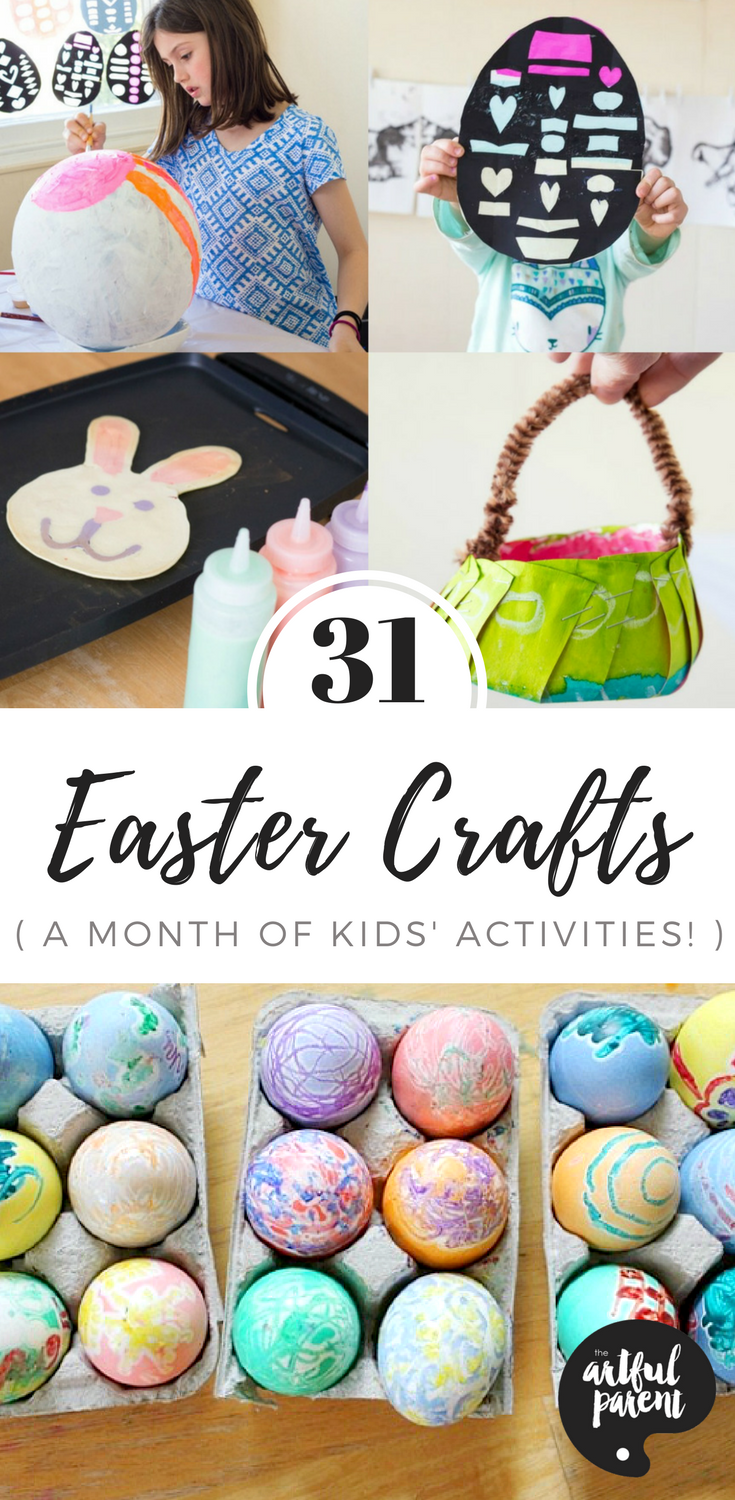 31 Easter Crafts for Kids (Easy and Fun Easter Crafts and Activities!) is part of Kids Crafts Ideas For Easter - Looking for ideas for Easter crafts for kids  Here are 31 Easter egg decorating ideas, arts and crafts projects, activities, and even a great Easter book list  All perfect for family fun!