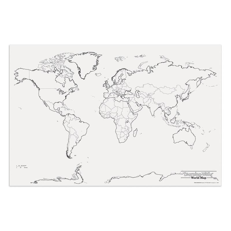 Giant World Map 48in X 72in World Map Coloring Page Giant World