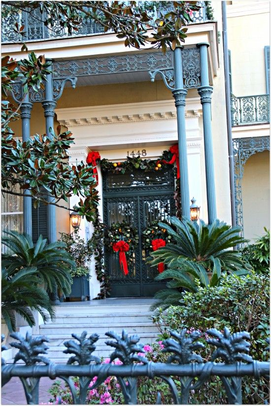 Christmas New Orleans 2019 Cornstock Home in Garden District, Front Door | Christmas in 2019