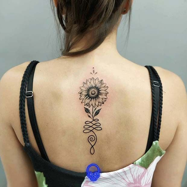 61 Pretty Sunflower Tattoo Ideas to Copy Now   Page 5 of 6 ...