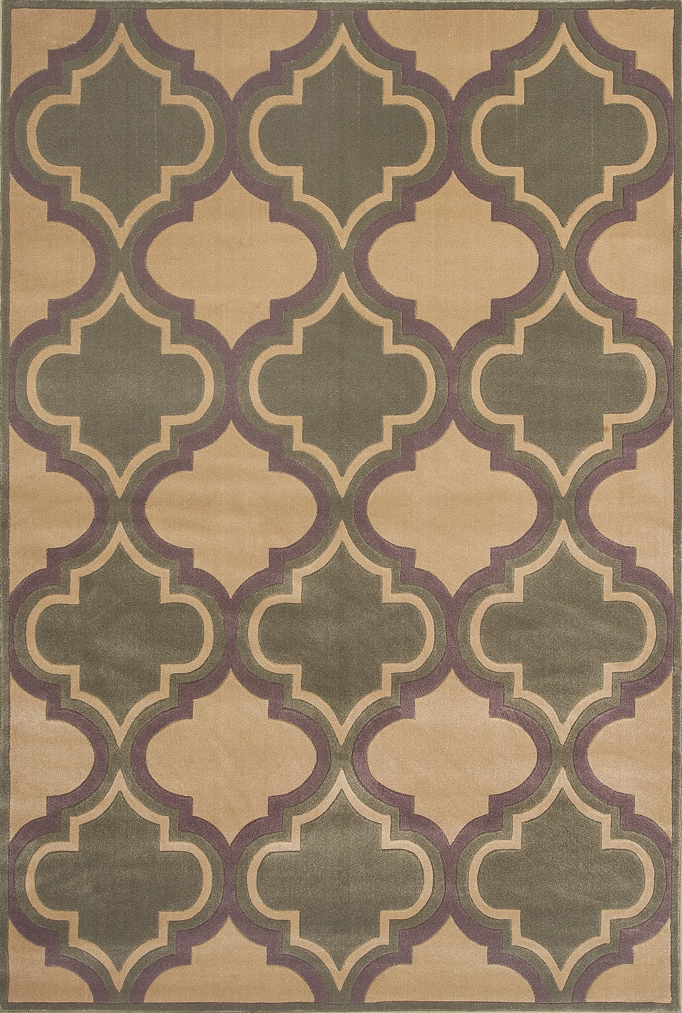 Kas Rugs Corinthian Beige Sage Quatrefoil Area Rug Reviews Wayfair