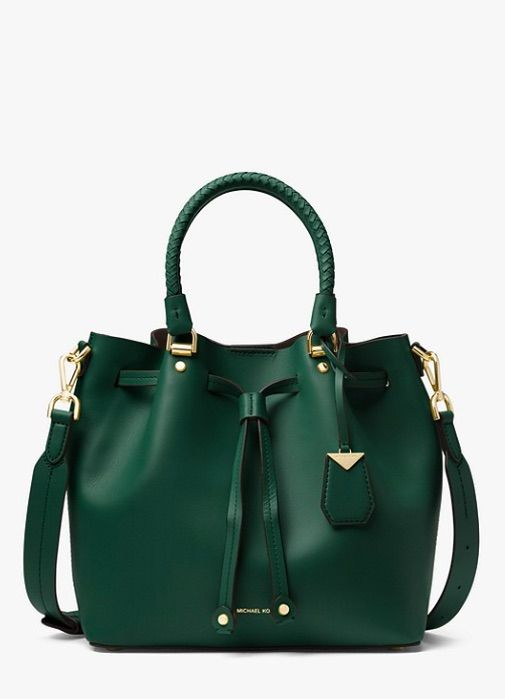 6aaa299ebf7f8b ... on the official Michael Kors site. 25% off thru 12/10! KORS Blakely  Leather Bucket Bag in Racing Green ~ Today's Fashion Item
