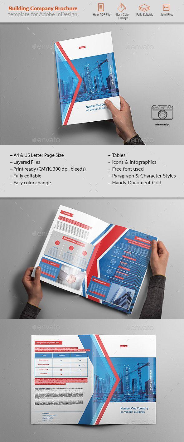 Building Company Brochure  Brochure Templates