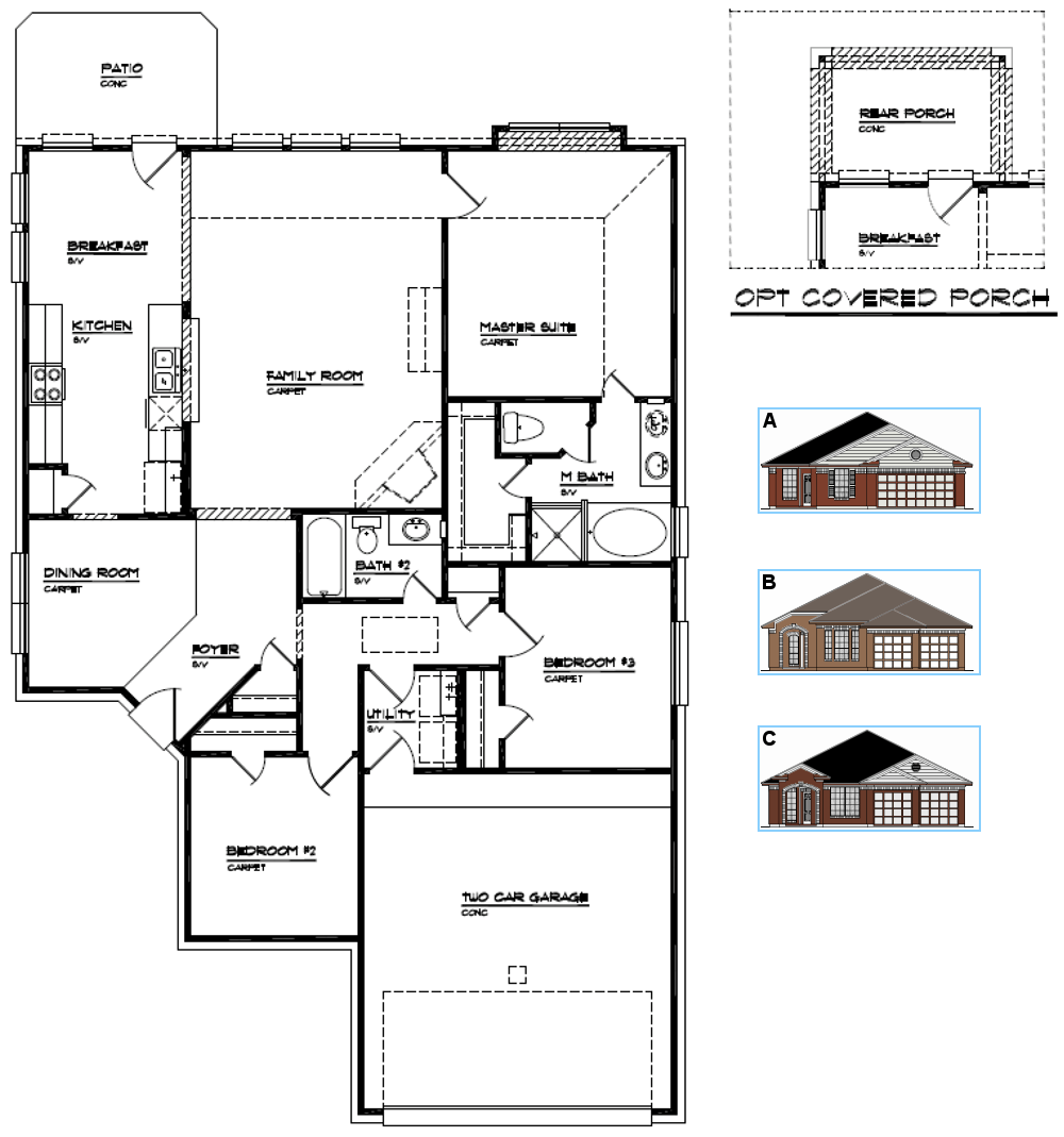 house floor plans with dimensions single