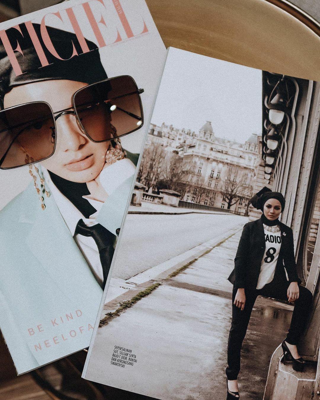 Neelofa Square Sunglass Fashion Sunglasses