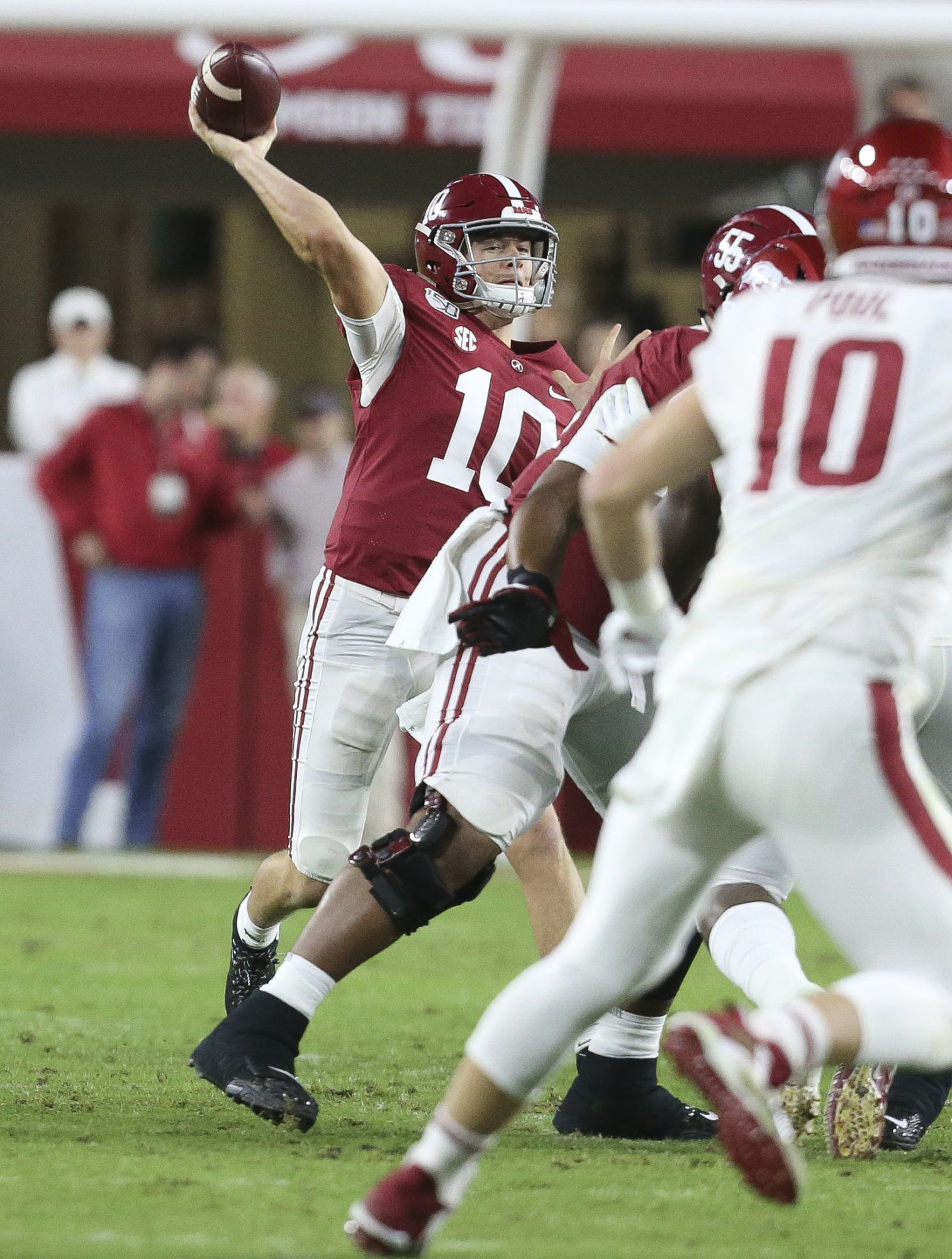 Mac Jones Has Solid Start For Tide Against Arkansas In 2020 Crimson Tide Football Alabama Crimson Tide Football Alabama Crimson Tide