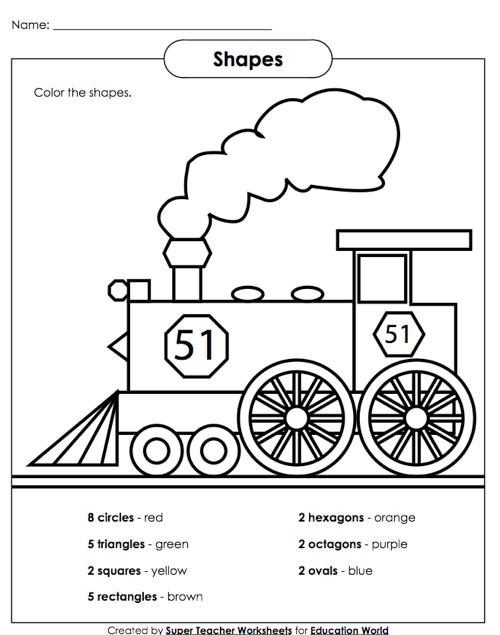 Super Teacher Shapes Worksheet Education World Math Worksheets Kids Math Worksheets Mental Maths Worksheets