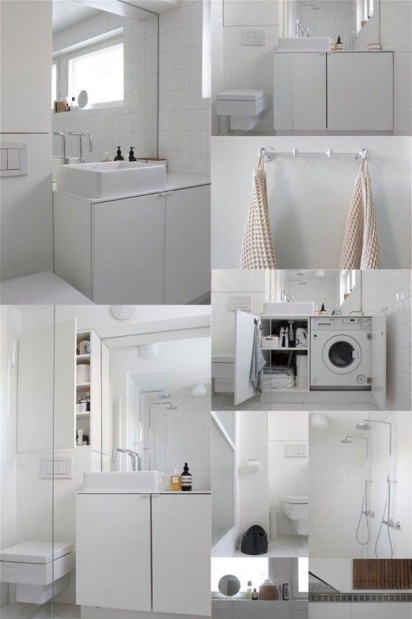 9 petites salles de bains avec lave linge astuces. Black Bedroom Furniture Sets. Home Design Ideas