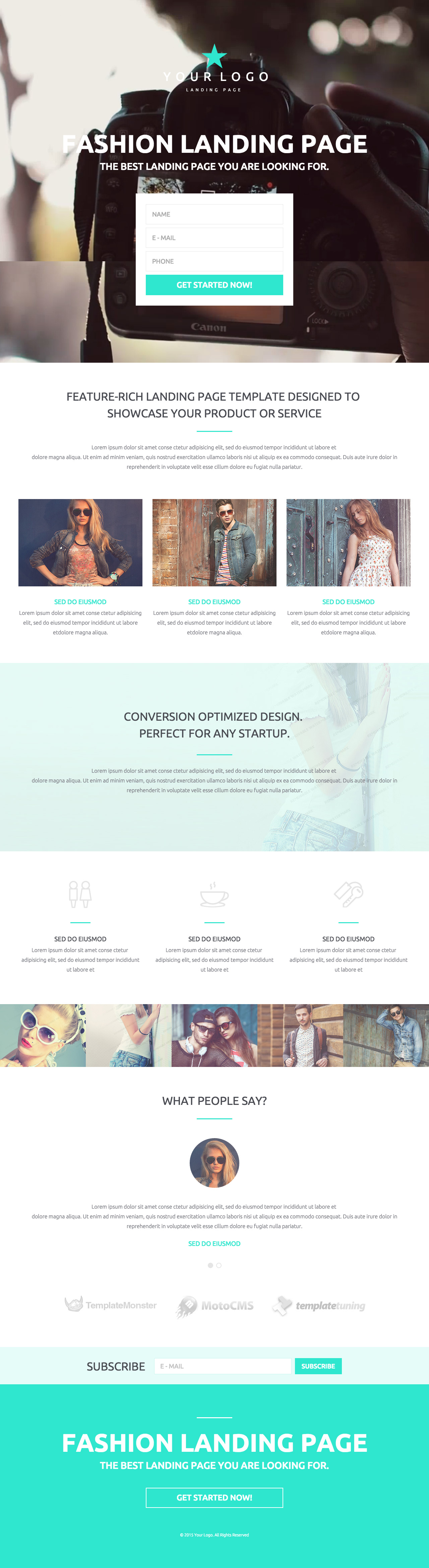 Fashion\' is a responsive One Page HTML landing page template ...