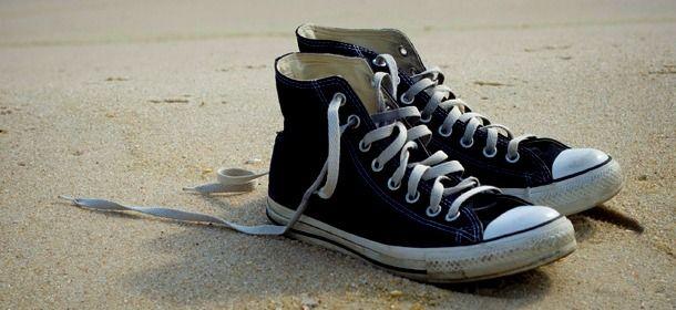 93b3e3026 Empty Shoes on Beach