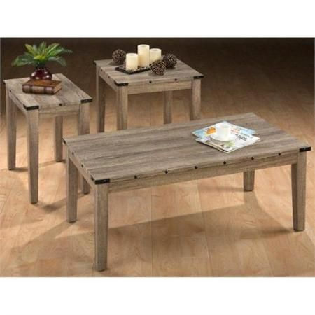 Jofran Taos 3 Piece Coffee Table Set in OakWalmartcom