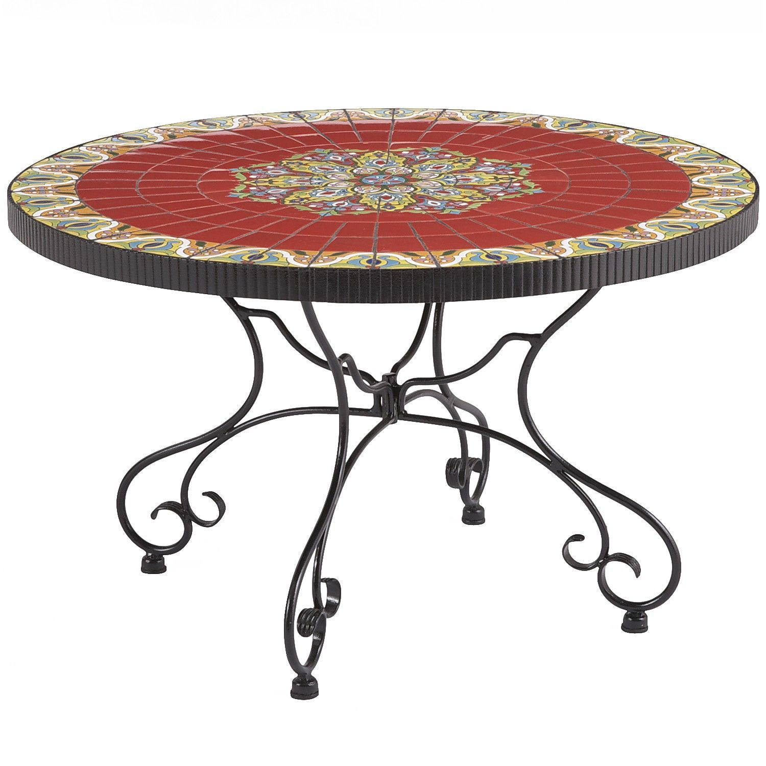 Rania Coffee Table Red Mosaic Pier Imports Meubles - Pier 1 outdoor coffee table