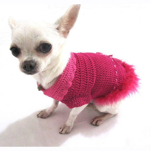 Pink Dog Dress Dog Wedding Dress Chihuahua Clothes Dog Clothes