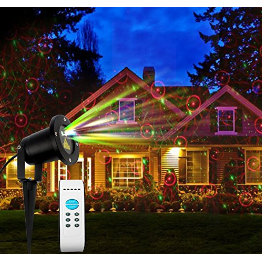 Moving 8 Pattern Red And Green Laser Light Projector Christmas Lights Outside Christmas Lights Indoor Decor Laser Lights Projector