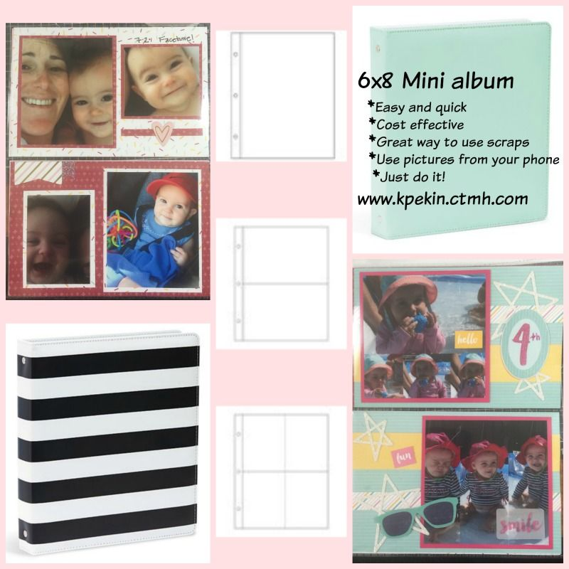 Shop on my website and search Mini album. You will see these great 6x8 albums and accessories. Go to www.kpekin.ctmh.com