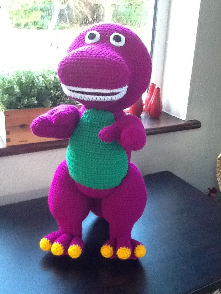 Barney Dinosaur Knitting Pattern : Crochet Barney. My Crochet projects. Pinterest Crochet, Amigurumi and P...