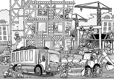 Construction Site Coloring Sheets Construction Site