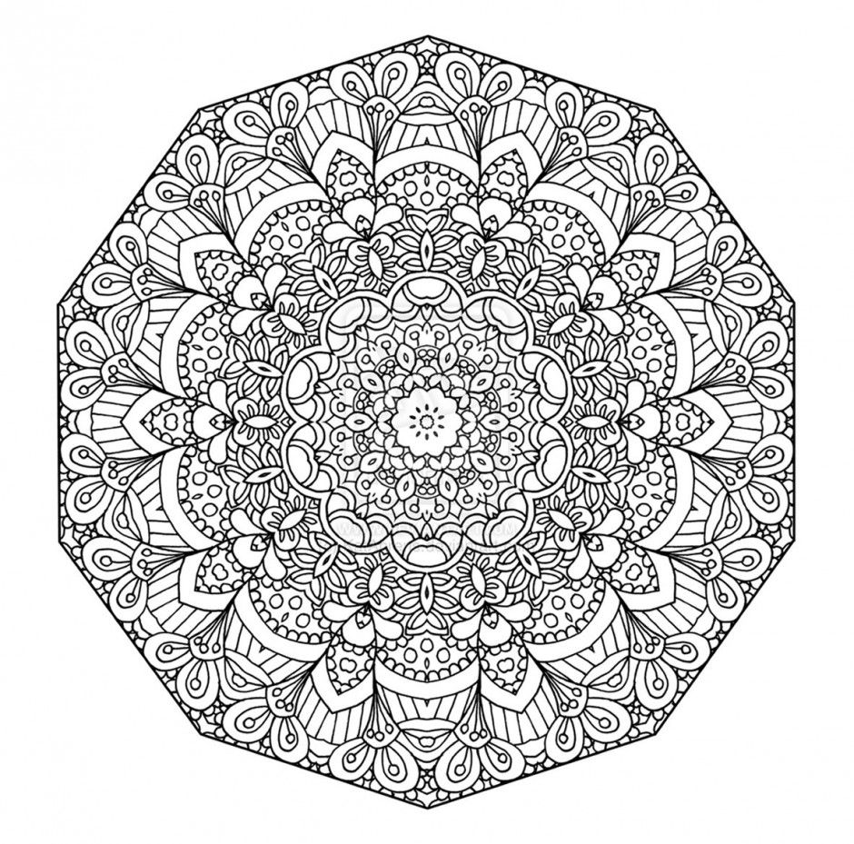 Coloriage Mandalas Difficile A Imprimer Pour Les Enfants Cp17145