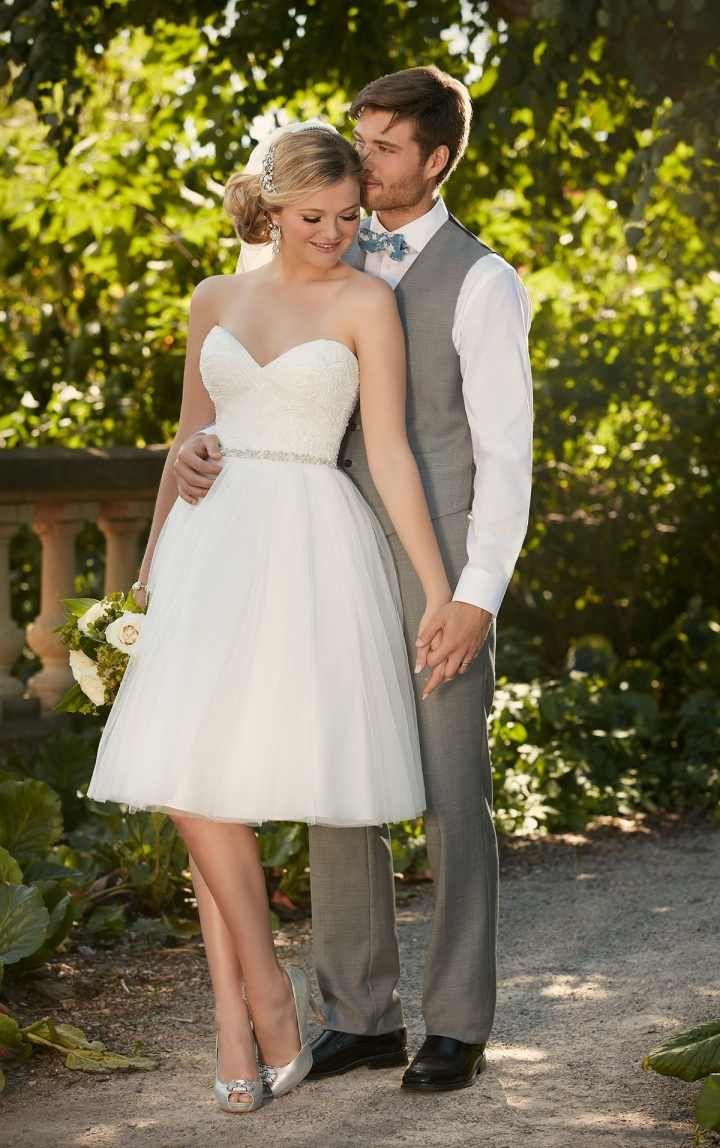 Vestidos de novia cortos: 40 modelos irresistibles