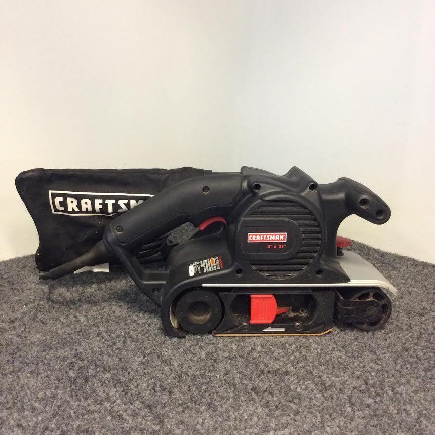 Craftsman 3 X 21 Inch 8 Amp 120 Volt 60 Hz Belt Sander 315 117260 Priced At 24 99 Available At Gadgets And Gold Craftsman Power Sanders Belt Sander